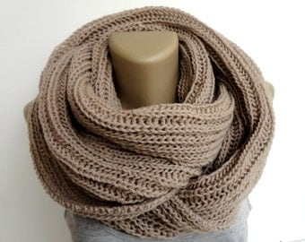 Winter SALE // Knit Scarf Winter Scarf Women Knit Infinity Scarf Men Scarf Women Winter Accessories / Gifts For Her senoaccessory