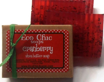 Cranberry Soap - Cranberry Handmade Soap - VEGAN