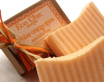 Winter Orange Spice Soap - Shea Butter Mango Butter Handmade Soap - LIMITED EDITION