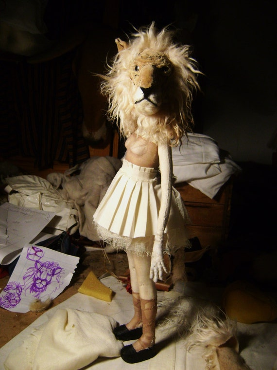 Art Doll - Sculpture for Valeria Dalmon- Animals heads-Only for comission-