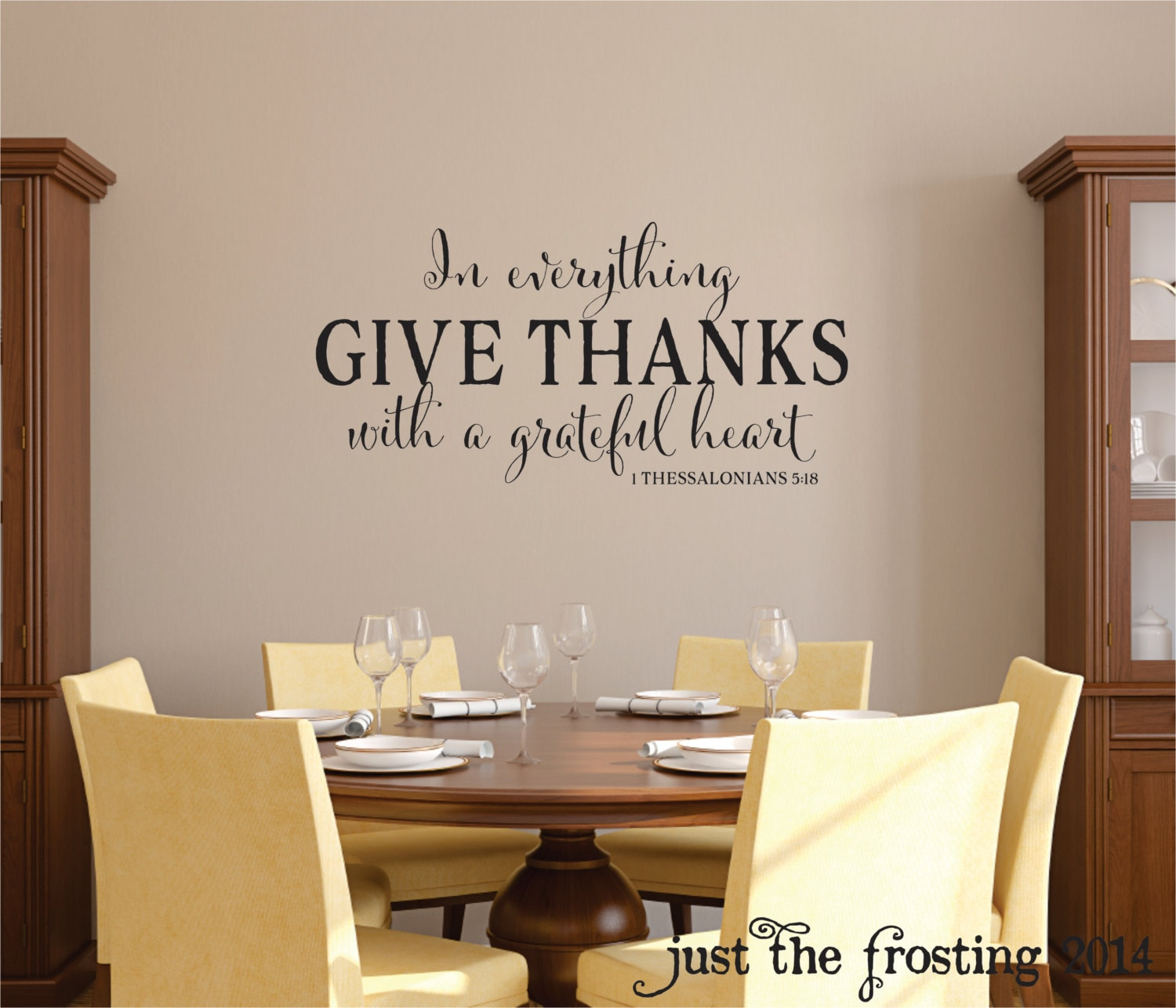 new in everything give thanks wall decal 1 thessalonians