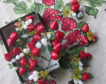 Glass Strawberry And Blossom Bouquet