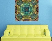 Mandala Art Wall Sticker Decal - Color and Symmetry by Lyle Hatch