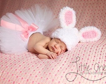 Baby Boy Hat or Baby Girl Hat Fuzzy Bunny Beanie Easter Photography Prop Ready Item
