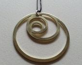 Crescent Moons Pendant - Brass Symbols range - Egyptian - Geometry - Handcrafted