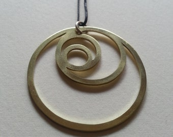 Crescent Moons Pendant - Brass Symbols range - Egyptian - Geometry - Handcrafted
