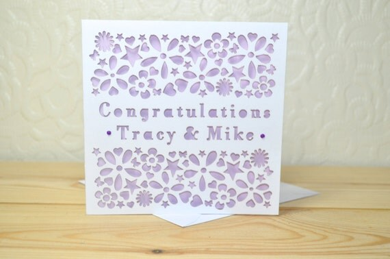 Engagement Congratulations Personalised Card
