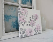 QUEEN ANNE Of The English Rose Series 12 x 12 x 1.5 Original Painting French Nordic Shabby Chic Cottage Jeanne D Arc Living