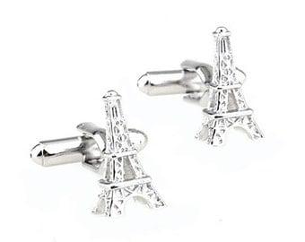 Eiffel Tower Cufflinks - Groomsmen Gift - Men's Jewelry - Gift Box Included