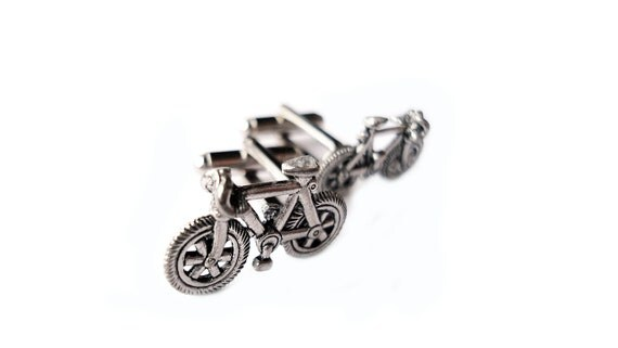 Bike Cufflinks - Gifts for Men - Anniversary Gift - Handmade - Gift Box Included