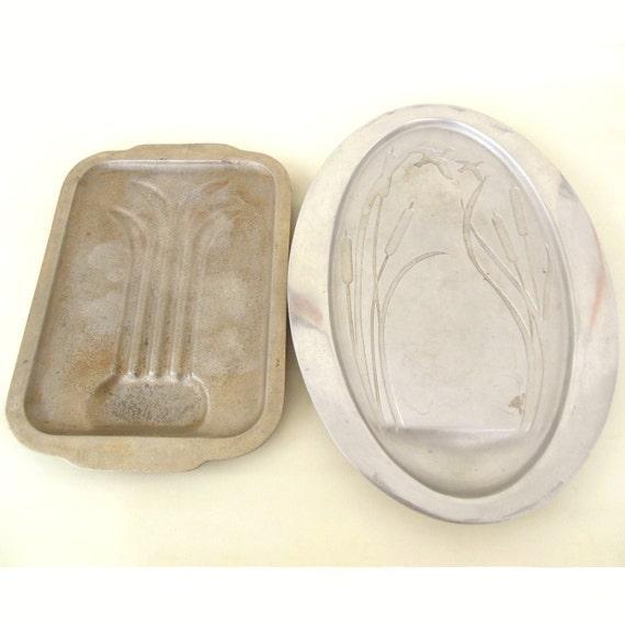 Cast Aluminum Meat Platter Roast Carving Tray Thanksgiving Dinner Rustic Wedding