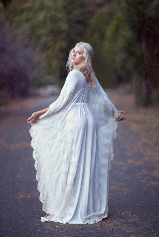 Bohemian Wedding Dress Hippie Bohemian Gown Chiffon Kaftan