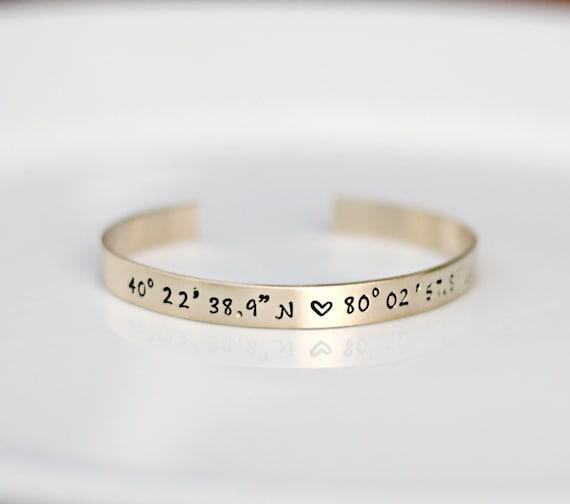Gold Coordinate Bracelet Gps Coordinate By 3littlepixiesshoppe. Trade Diamond. Gemini Rings. Lapis Lazuli Wedding Rings. Orange Watches. Grading A Diamond. 5 Diamond Band Ring. Wood Bracelet. New Earrings