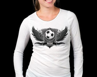 Personalized Soccer Mom women custom shirt.