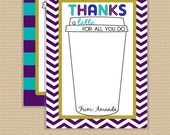 Thanks a Latte Card . Printable . Any colors