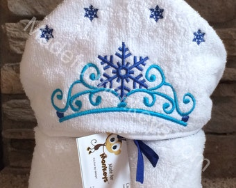 Snow Crown Kids Hooded Towels