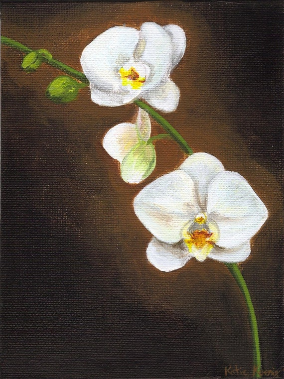 How To Paint A White Orchid In Acrylics