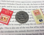Miniature Book / Canterbury Tales by Chaucer / Tiny Book with real pages / 1:6 scale mini book / playscale / one sixth scale
