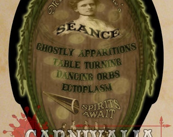 Madame Delphine's Séance Sign, Wall Art