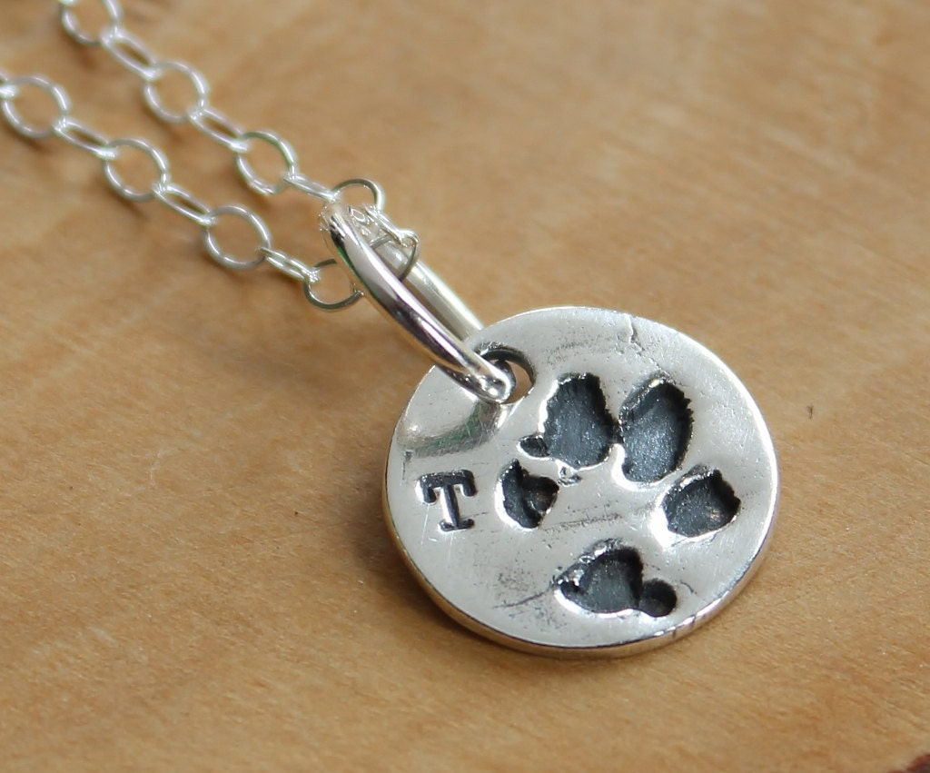 custom paw print necklace personalized charm necklace in