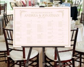 Wedding Seating Chart Sign -- Printable Digital File -- Simple and Fun Fonts -- Event, Calligraphy, Script, Blush Pink, Gold, Ballet