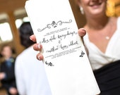 Printable Wedding Program -- Black and White Flowers Logo Banner Calligraphy -- Pomp