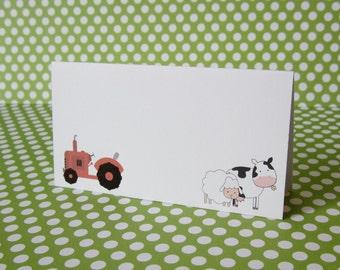 Farm Barnyard Place Cards