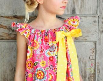 Hydrangea Headband, Pink White Yellow, Pink Lemonade, Felt Flower Headband, Wool Felt, Toddler, Girls, Teen, Women - Garland Headband