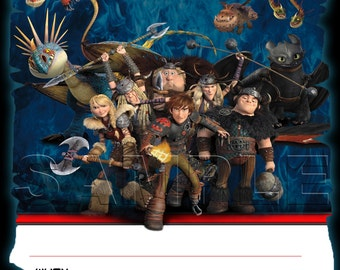 How to Train Your Dragon 2 Birthday Invitation - INSTANT DOWNLOAD -