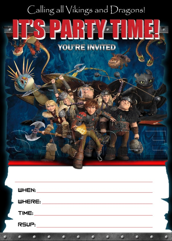 How to train your dragon 2 birthday invitation instant download il570xn ccuart Gallery