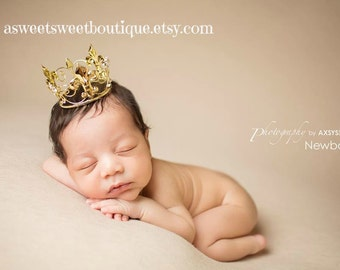 Baby Boy Crown Mini Crown Photo Prop Baby Boy Photo Prop Newborn Prince Crown Full Crown Headband Baby Boy Photo Props Newborn Photo Props