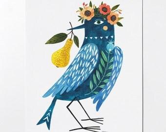 SALE - Blue Bird - 8x10 art print