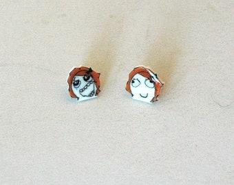 Derpina Meme Earrings