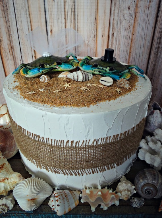 beach themed wedding cakes images crab wedding cake topper themed wedding wedding cake 11148