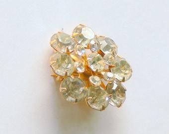 cluster  rhinestone brooch