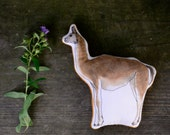 Cloth Guanaco Toy. Hand painted cloth animal toy by alyparrott on Etsy.