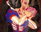 Snow White Eats Brains -Print of Watercolor Painting