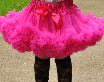 SALE Little Girls Pettiskirt Twirly Skirt for Baby Toddler Girls Berry Pink Tutu Skirts