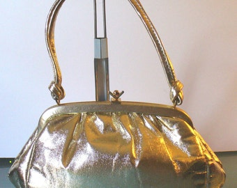 Vintage Gold Bag Made in England By Jane Shilton