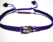 Buddha in Palm Charm Macrame Knot Friendship Cord Bracelet