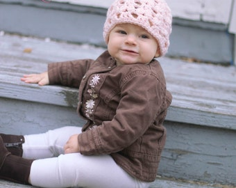 Bunny Tails Hat- Custom Order sizes 0-3 months to toddler