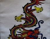Large Back COLOR CHINESE DRAGON - Printed Patch -Sew On Vest, Bag, Backpack, Jacket p583