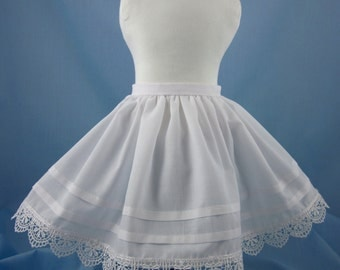 18 Inch Doll Petticoat - 7 inches long - For 1860s Dresses - Fits American Girl - Doll Clothes 18 Inch