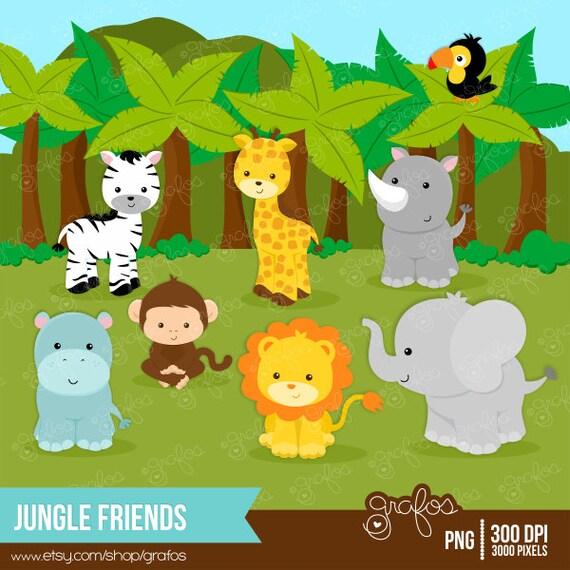 Safari jungle animals clip art and safari animals - Unavailable Listing On Etsy