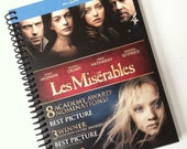 Les Miserables JOURNAL Notebook spiral recycled Musical Movie