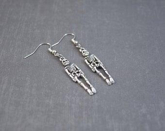 Skeleton Earrings - Skeleton Jewelry - Halloween Earrings - Halloween Jewelry - Science Earrings - Gift for Teacher - Autumn Jewelry