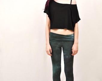 Foldover Waistband Lightweight Leggings - Tie Dyed Leggings - Thin Leggings for Summer - Sleep Pants - Soft Lounge Pants - XS, S, M, L, XL