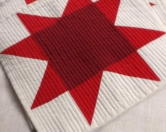 American Red Star Placemats (set of 4) Farmhouse Americana patriotic country home modern folk design Red Christmas dinner table accents