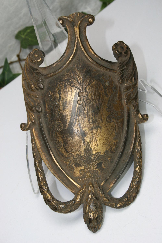 vintage decorative metal door plaque. Black Bedroom Furniture Sets. Home Design Ideas