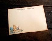 Winnie the Pooh - Piglet - Wishes for Mommy - Wish Cards - Set of 12 - Vintage Baby shower - Guest book - Wishes for Baby